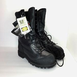 Iron Age Mens Sz 7 Black Boots Work Safety Boots